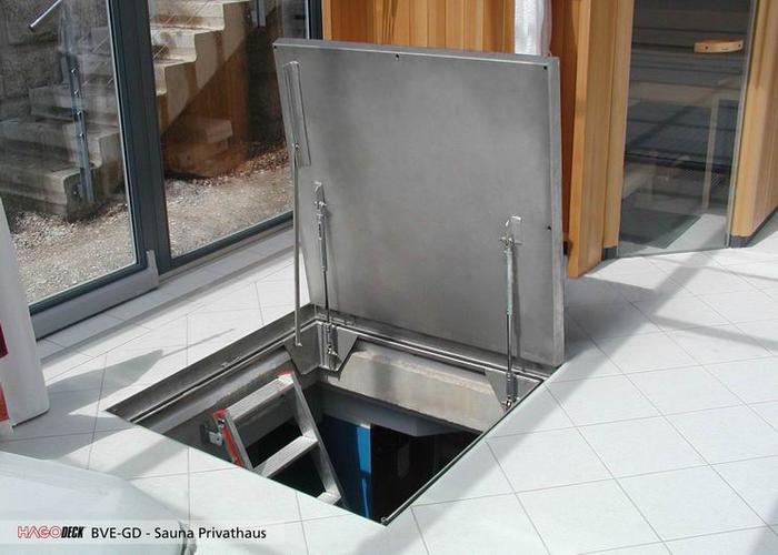 Напольный люк в подвал на газовы амортизатора купить